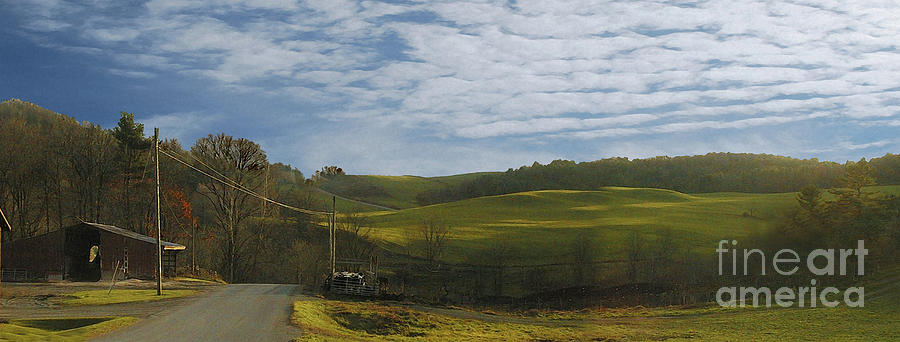 New York Digital Art - Black Creek Dairy by Alan Del Vecchio