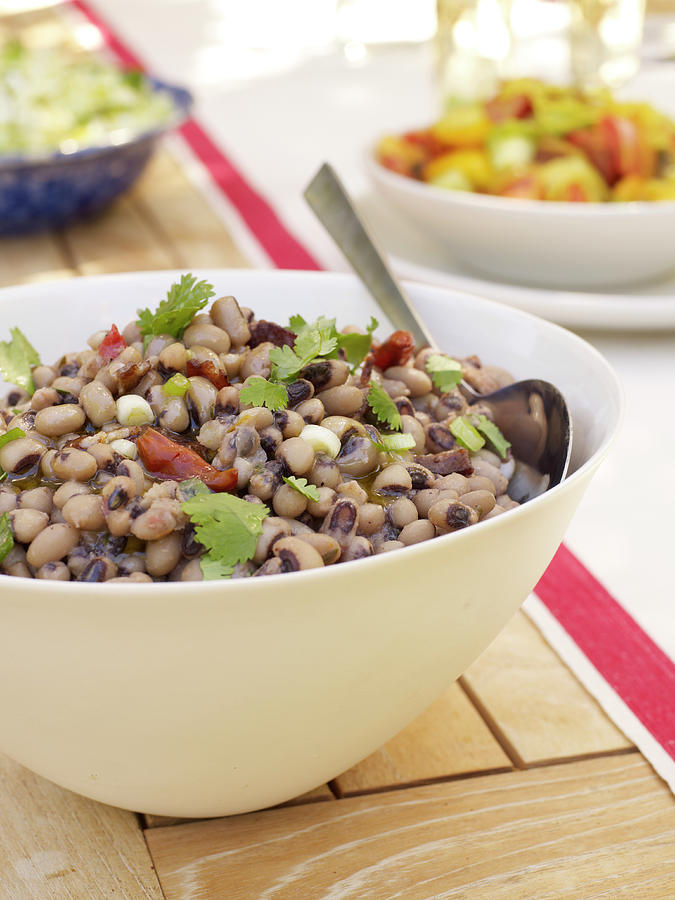 Black Eyed Pea Salad Photograph by James Baigrie