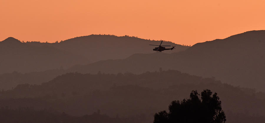 Black Hawk Helicopter at Sunset by Cindy McIntyre
