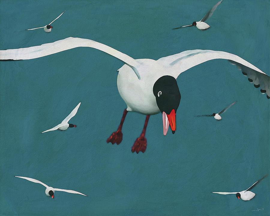 Black-Headed Gulls by Jan Keteleer