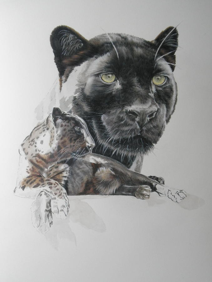 Black Leopard moving along by Barbara Keith