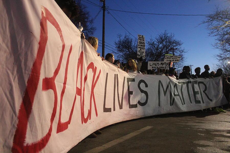 Black Lives Matter Photograph - Black Lives Matter Banner by Callen Harty