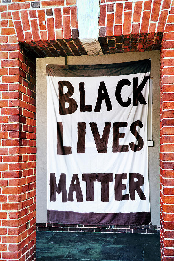 Black Lives Matter Framed by Brick by Phil Cardamone