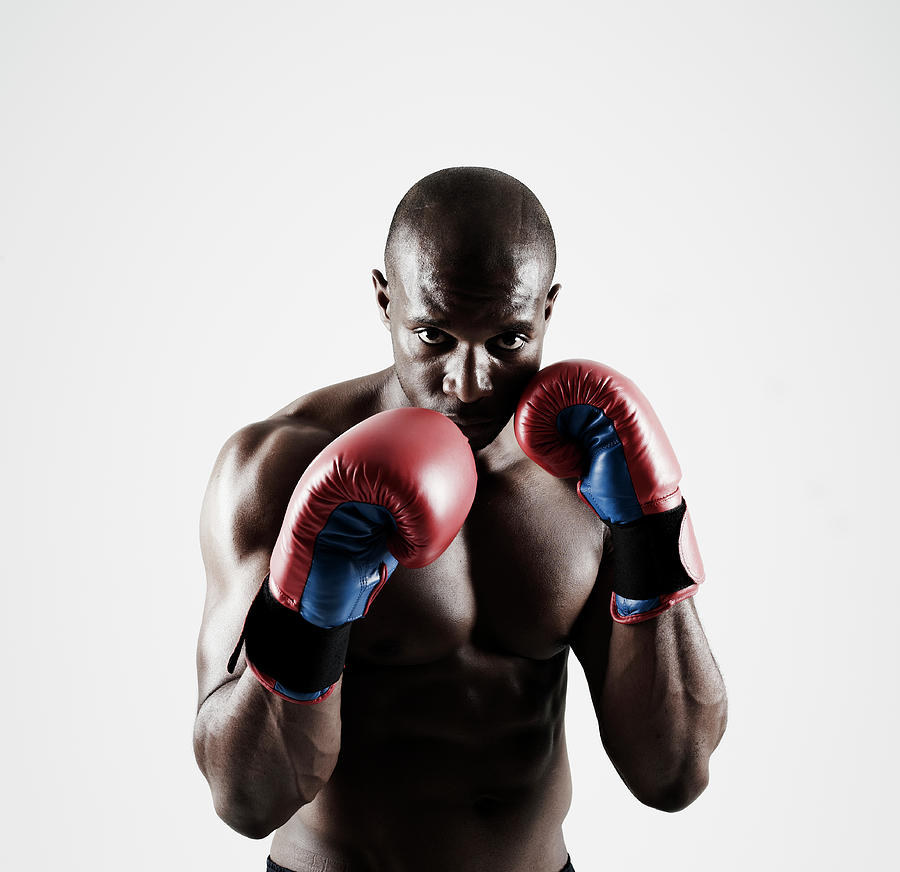 Black Male Boxer In Boxing Stance Photograph by Mike Harrington
