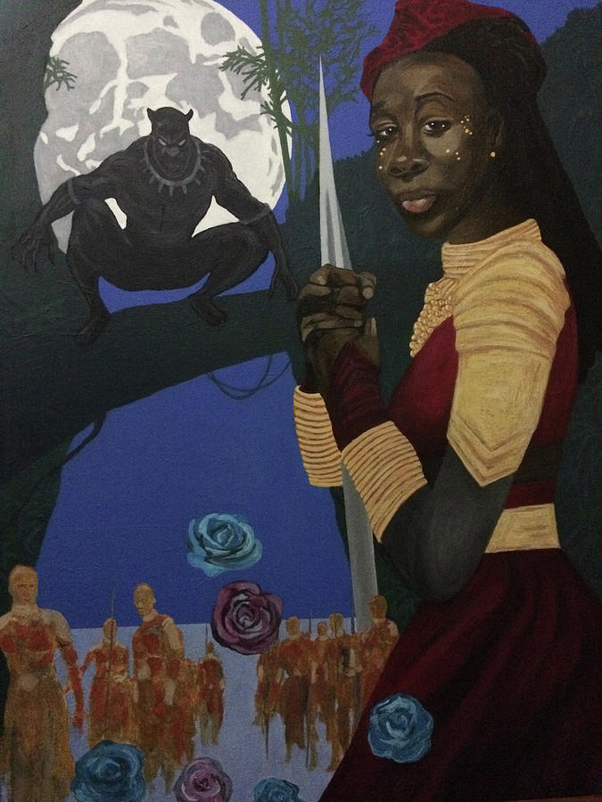 Wakanda Royal Family Oil Painting poster print Black Panther Africa Warrior