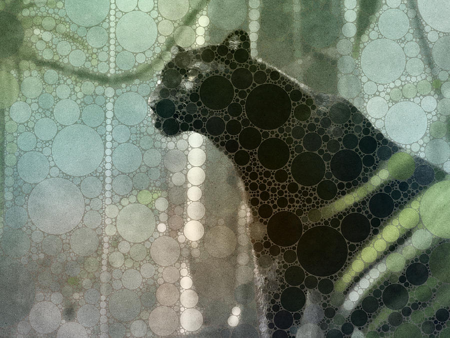 Cat Painting - Black panther by Susanna Shaposhnikova