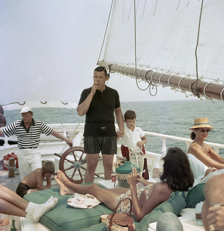 Black Pearl Trippers Photograph by Slim Aarons