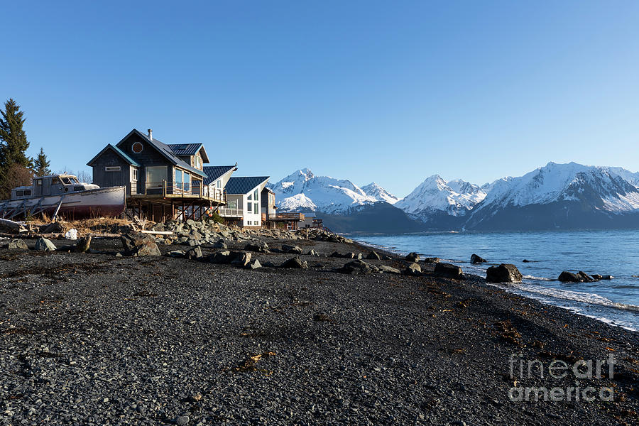 Black sand beach in Seward Alaska by Louise Heusinkveld