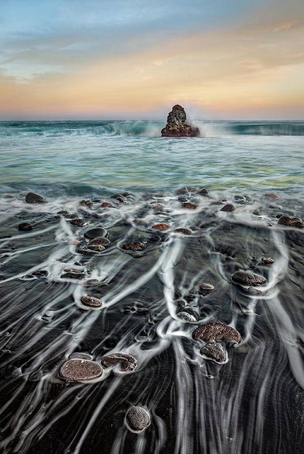 Black sands of Bollulo Beach by Dmytro Korol