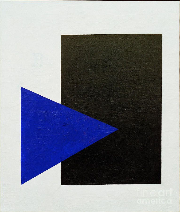 Black Square Blue Triangle by Kazimir Malevich