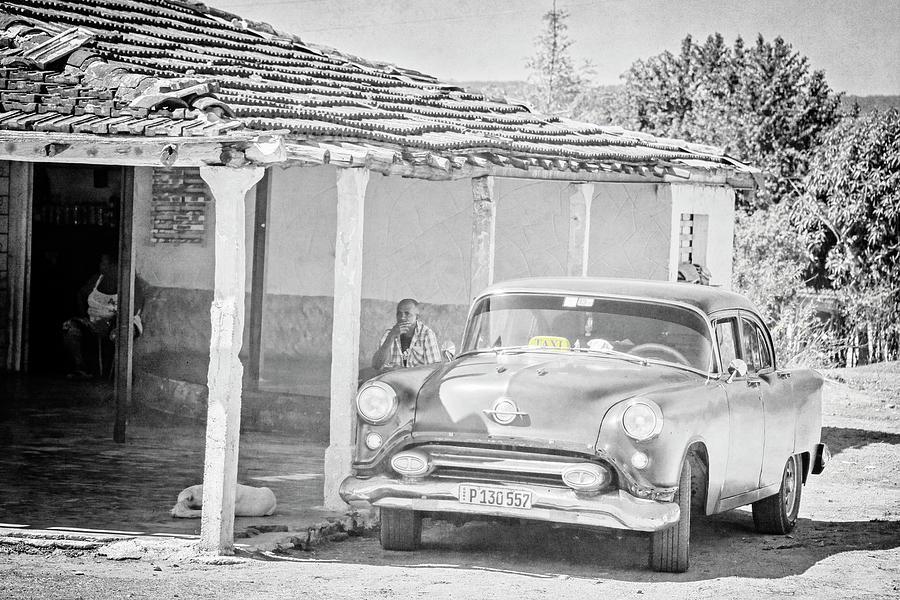 Black Taxi in Cuba by Joan Carroll