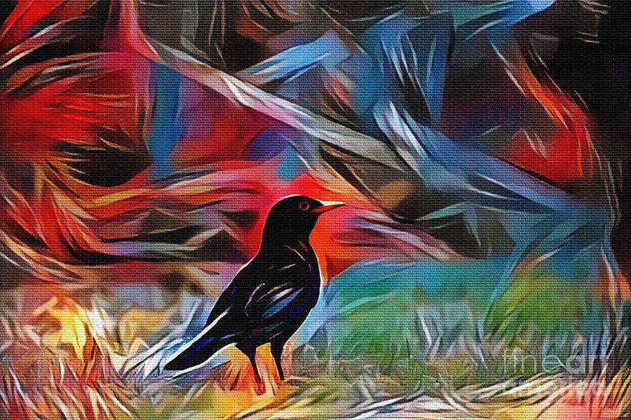 Blackbird Art by Kaye Menner