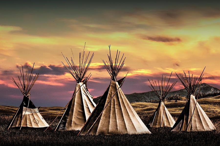 Blackfoot Indian Tepee Camp