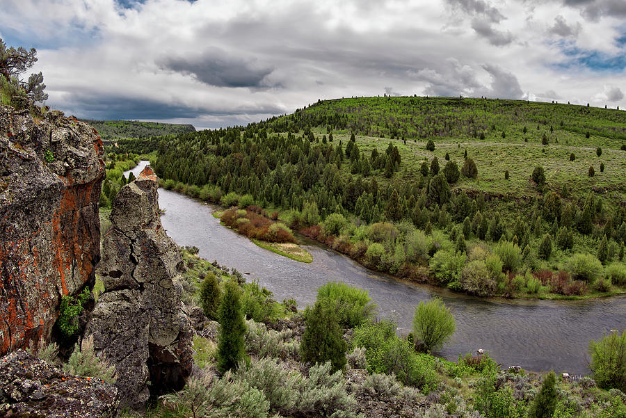 Idaho Photograph - Blackfoot River by Leland D Howard
