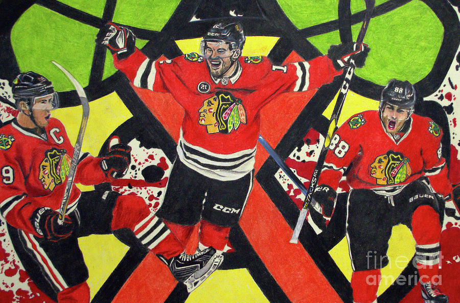 Blackhawks Authentic Fan Limited Edition Piece by Melissa Jacobsen