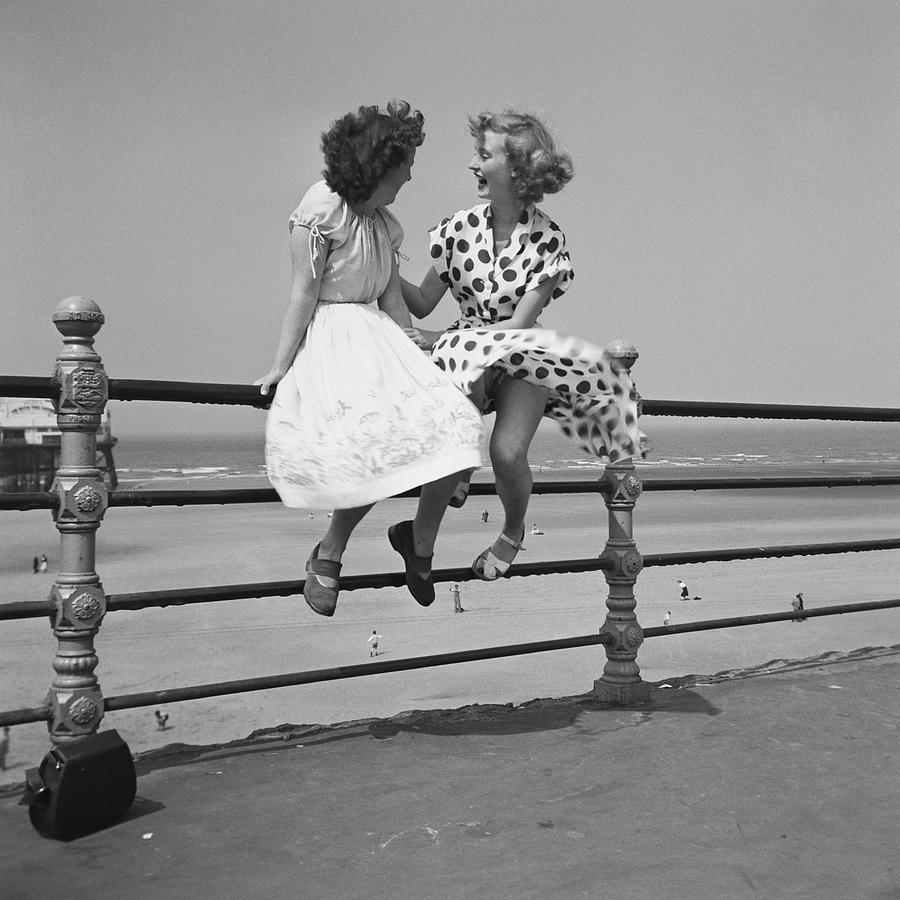 Blackpool Railings Photograph by Bert Hardy