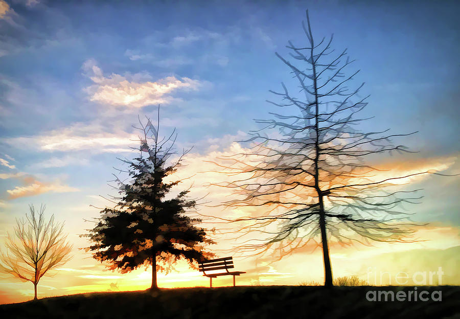 Blacksburg Sunset - Hethwood - Prices Fork Road by Kerri Farley