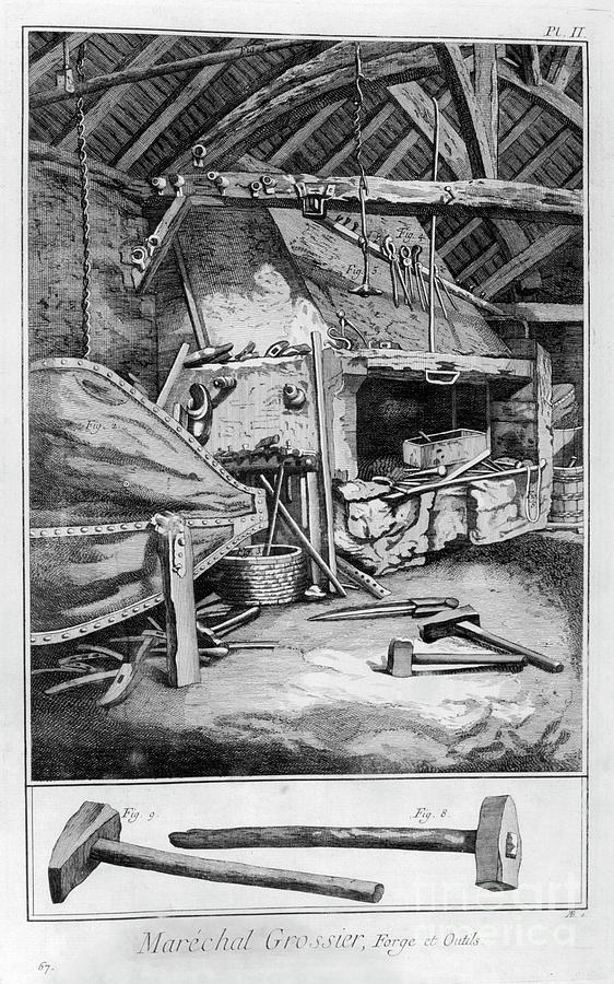 Blacksmith, 1751-1777 Drawing by Print Collector