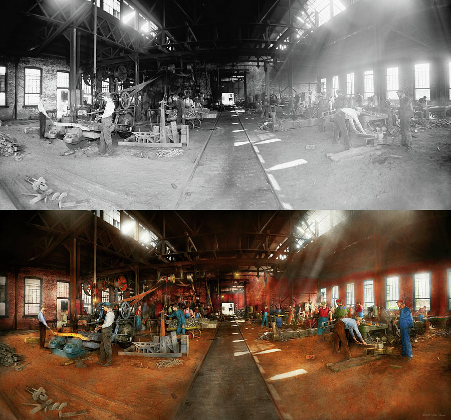 Blacksmith - Forging ahead 1905 - Side by Side by Mike Savad