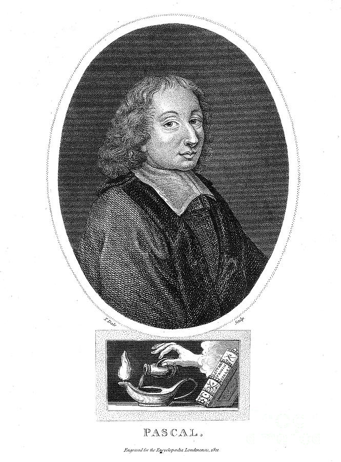 Blaise Pascal, 17th Century French Drawing by Print Collector