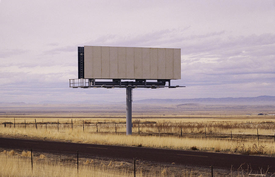 Blank Billboard Photograph by Photo 24