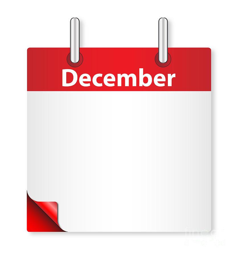 Date Digital Art - Blank December Date by Bigalbaloo Stock