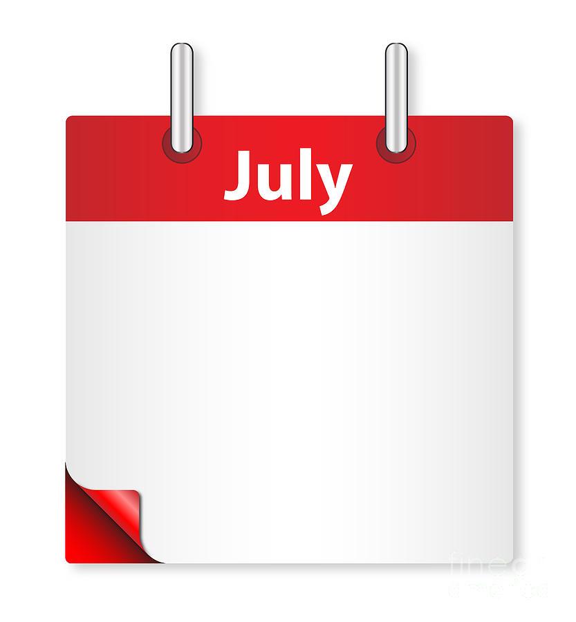 Date Digital Art - Blank July Date by Bigalbaloo Stock