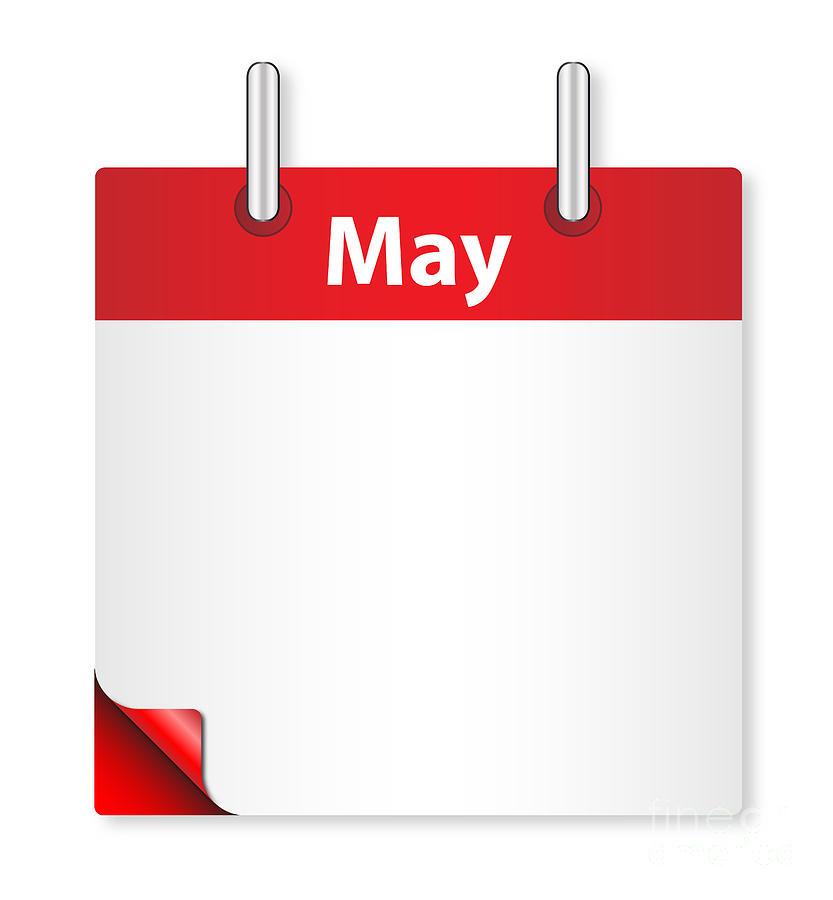Date Digital Art - Blank May Date by Bigalbaloo Stock