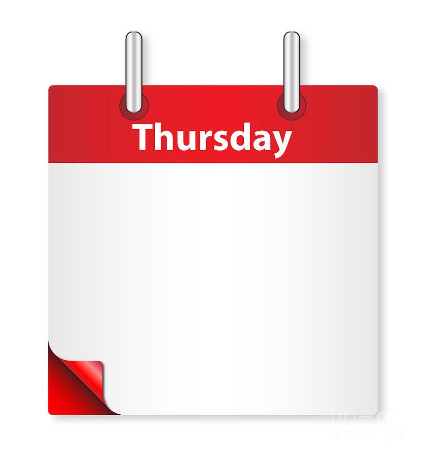Date Digital Art - Blank Thursday Date by Bigalbaloo Stock