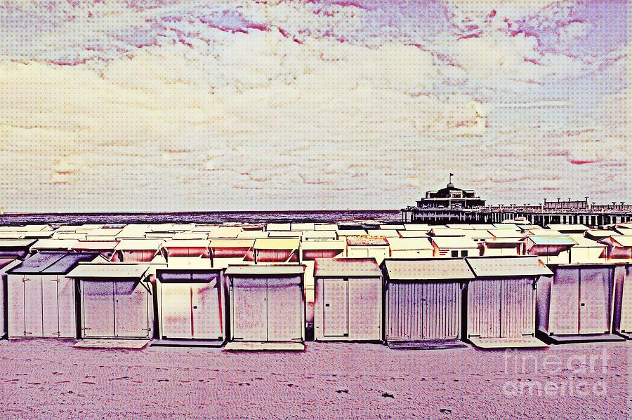 Beach Digital Art - Blankenberge Beach by Jurgen Huibers