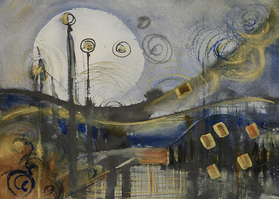 Blaue Landschaft by Judith Levins