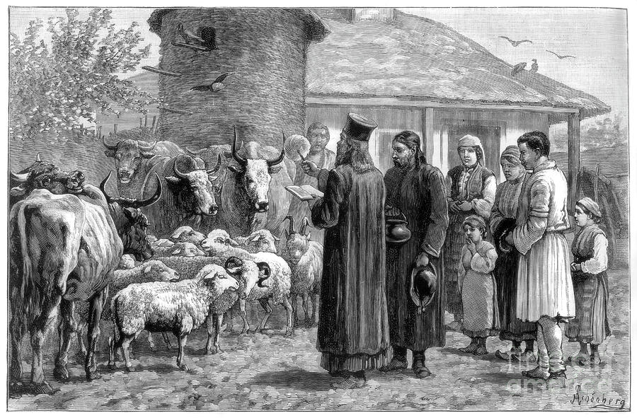 Blessing Domestic Animals, Bulgaria Drawing by Print Collector