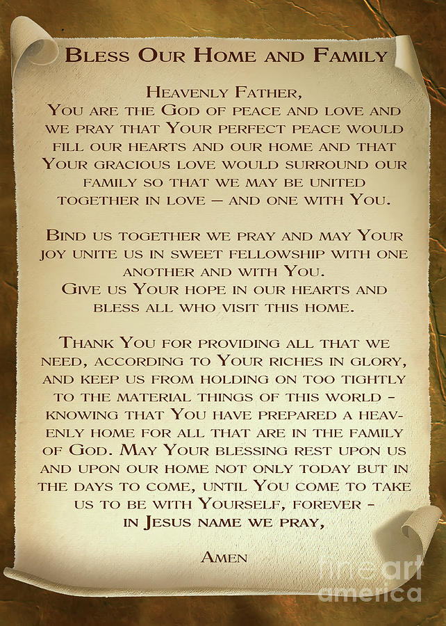 Blessing For Home And Family by Olga Hamilton