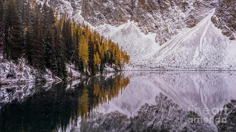 Blue Lake Fall Symmetry Photograph