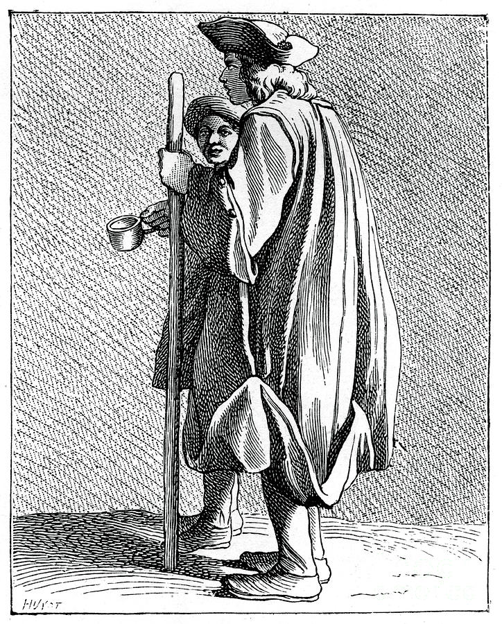 Blind Man Of Quinze-vingts Drawing by Print Collector