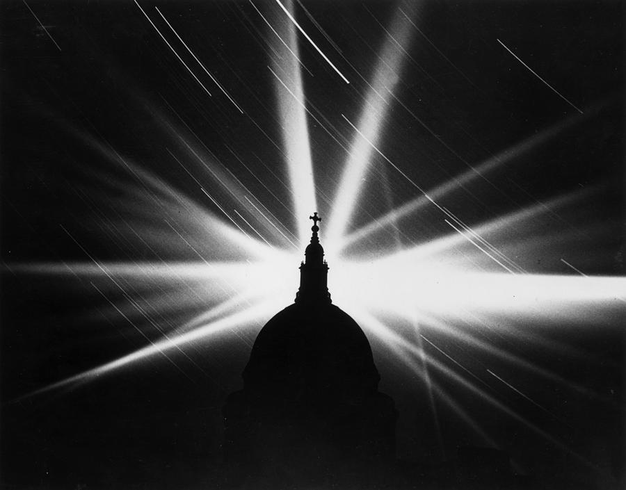 Blitz Searchlights Photograph by Harry Shepherd