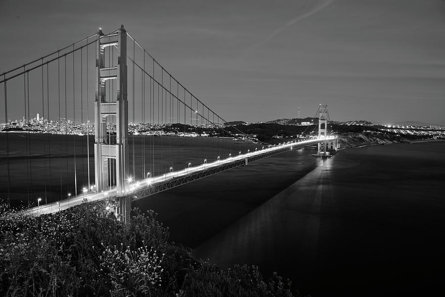 Black And White Photograph - Blk And Wht Golden Gate by Susan Vizvary Photography