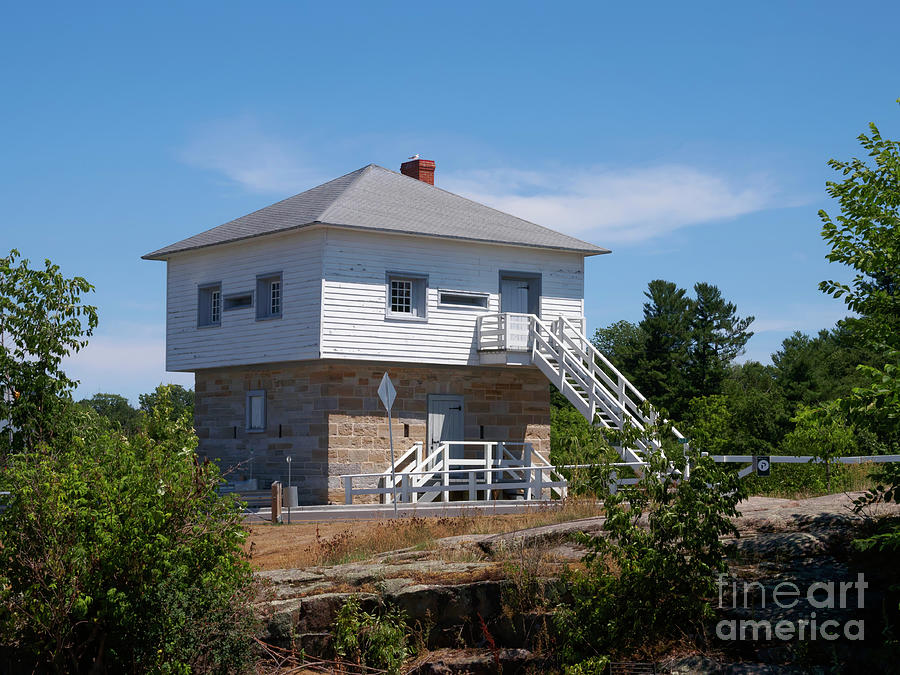 Blockhouse Photograph - Blockhouse At Kingston Mills On The Rideau Canal by Louise Heusinkveld