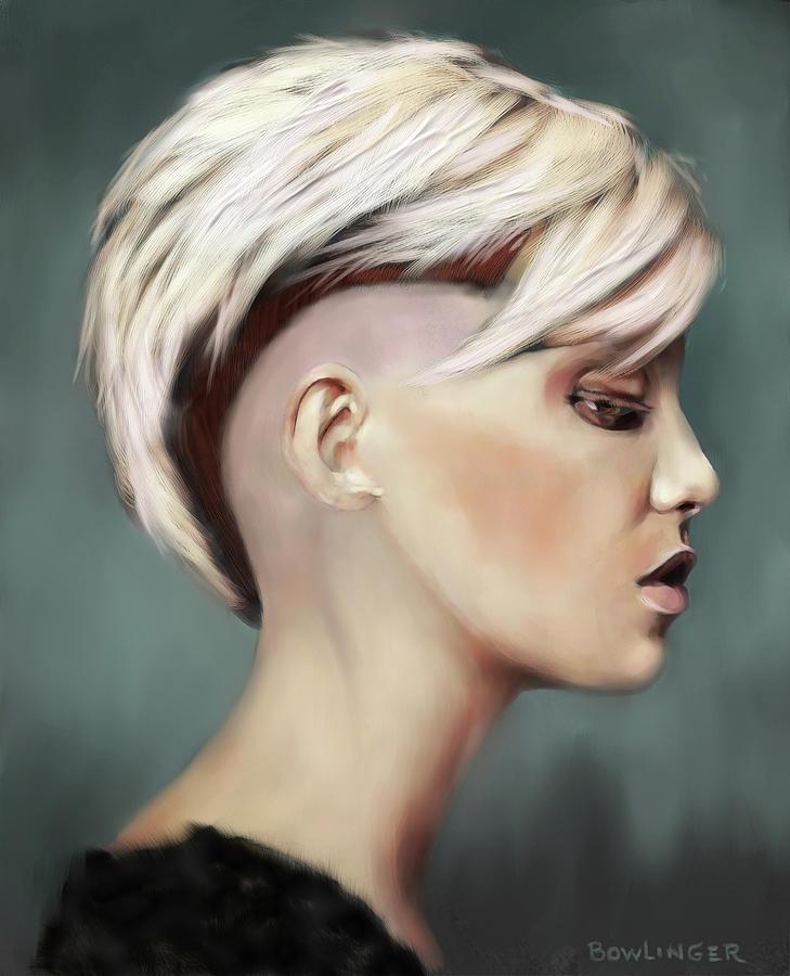 Blonde in Profile by SCOTT BOWLINGER