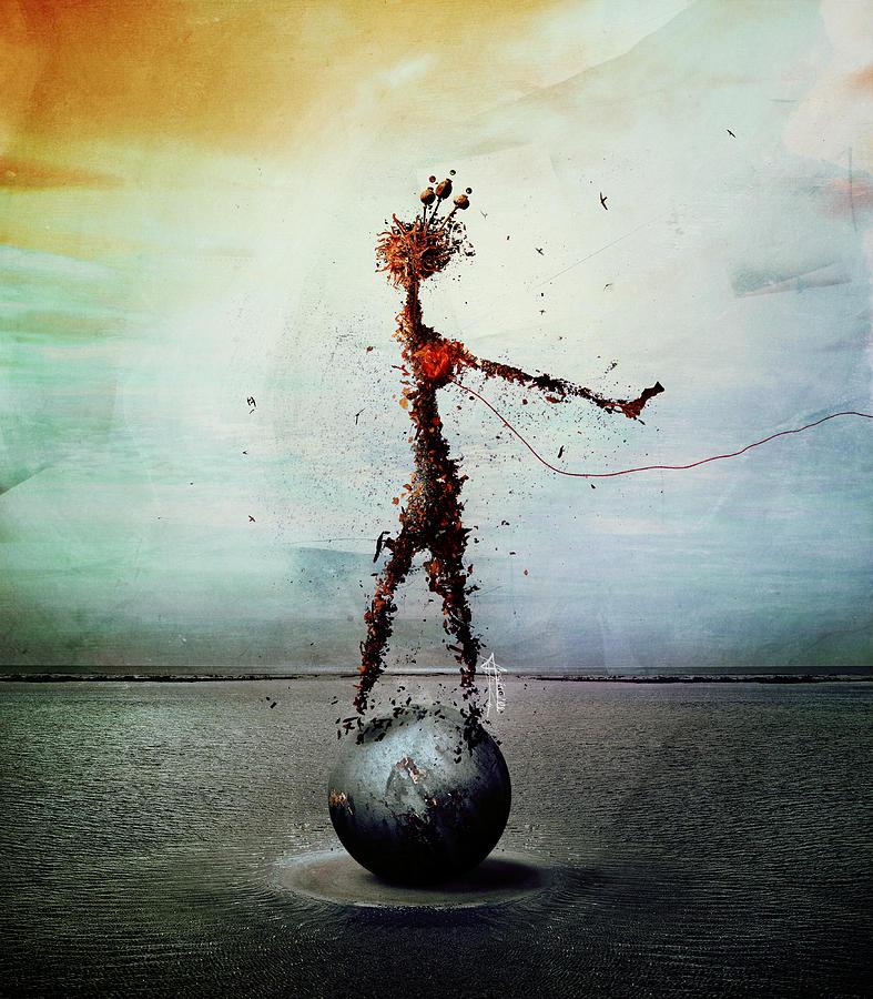 Surreal Digital Art - Blood by Mario Sanchez Nevado