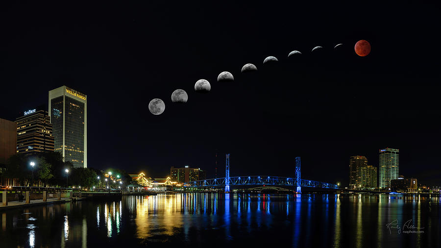Blood Moon over Jacksonville by Randall Allen