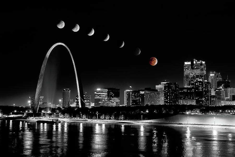 Blood Moon over St. Louis by Randall Allen