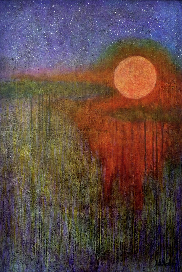 Blood Moon Over Wetlands by Jim Whalen