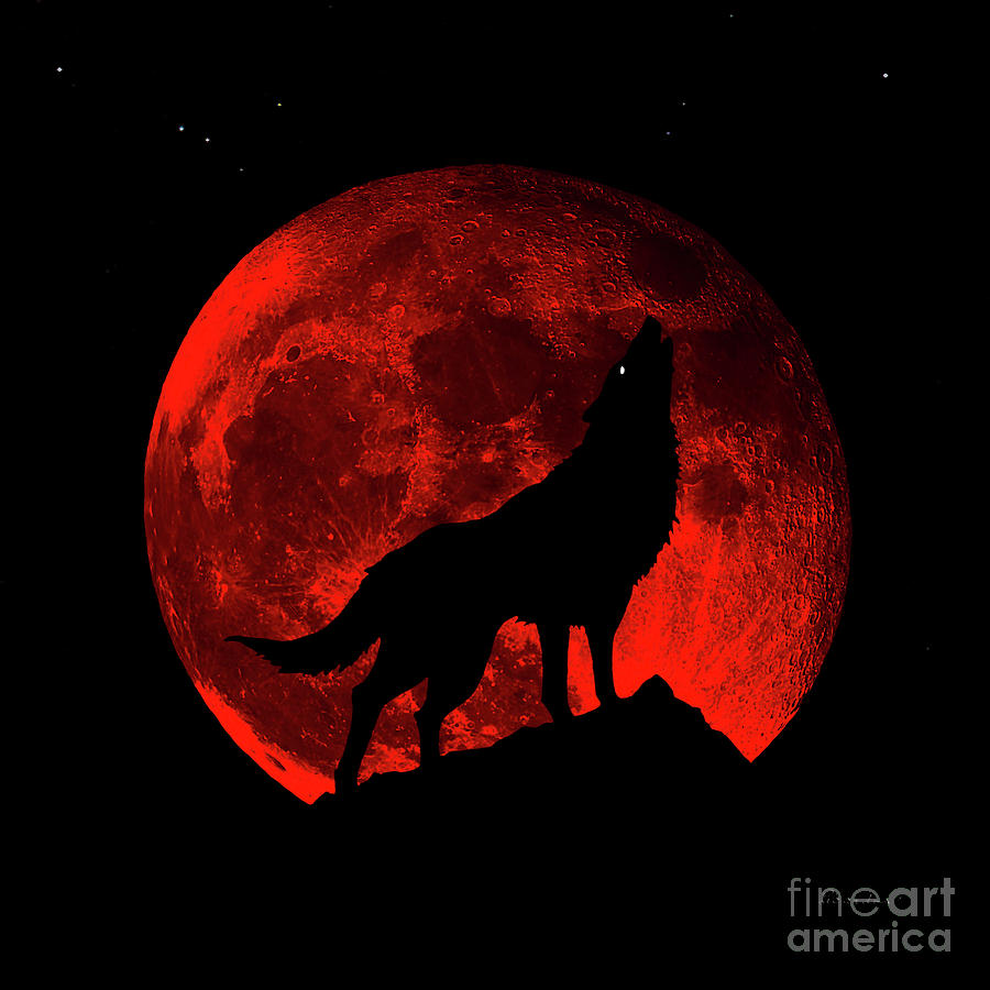 Blood Red Wolf Supermoon Eclipse 873m by Ricardos Creations