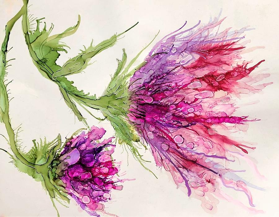 Floral Painting - Floral Explosion by Christine Johanns