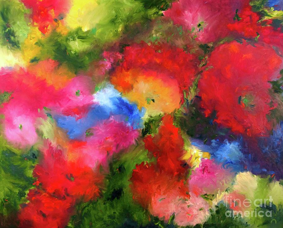 Abstract Painting - Bloom by Lori Bordessa