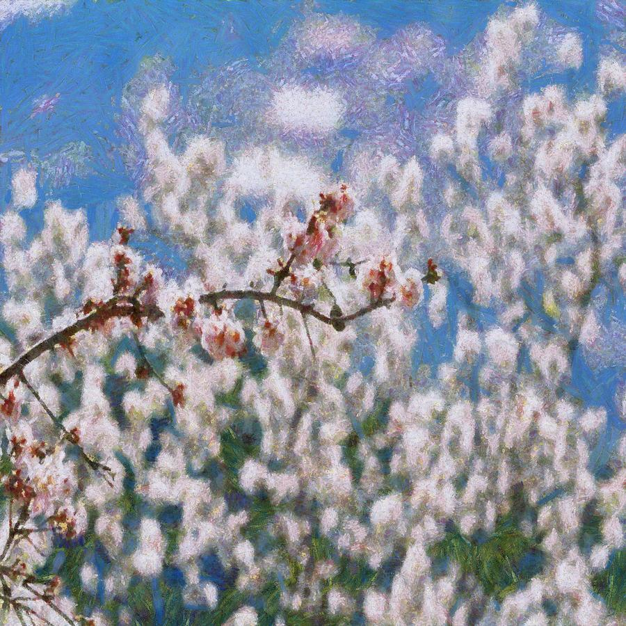 Blooming Almond Tree by Taiche Acrylic Art