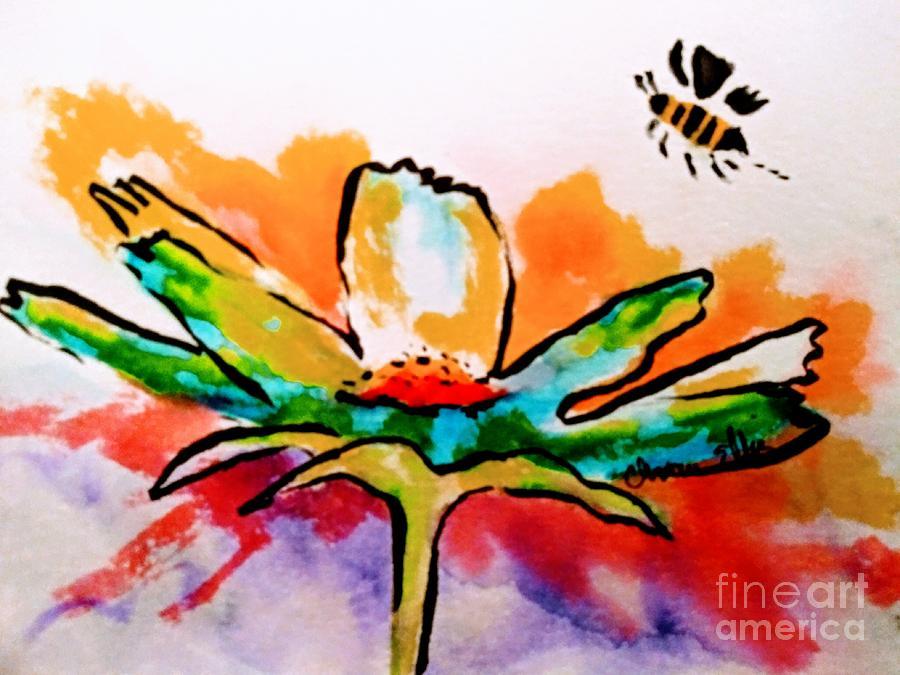 Blooming Hip Bee by Chrisann Ellis