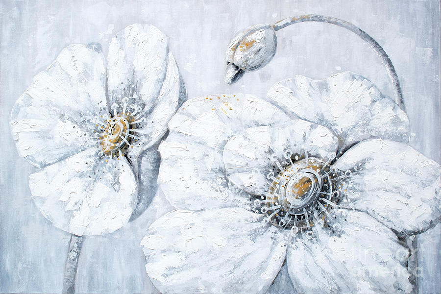 Blooming Innocence - White Poppies by Annie Troe