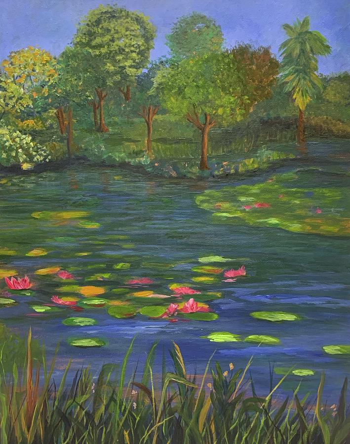 Blooming Pond by Jane Ricker